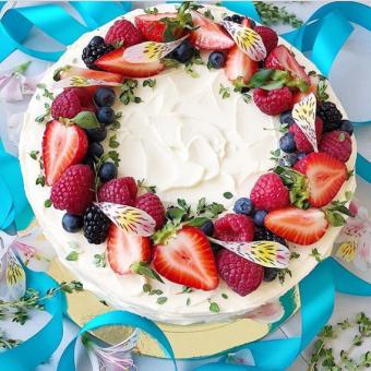 Эффектное украшение домашних тортов