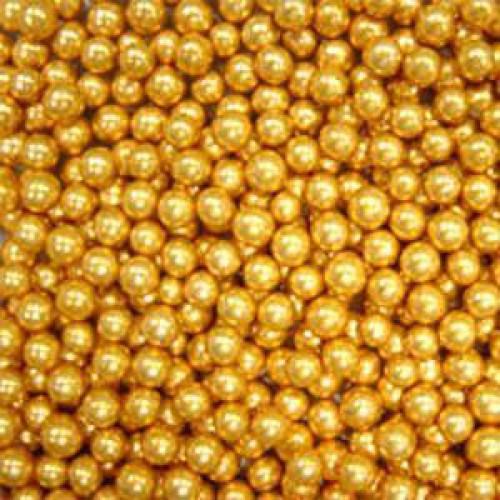 Декор Шарики золотые 5 мм. I.D.A.V., 100 гр.