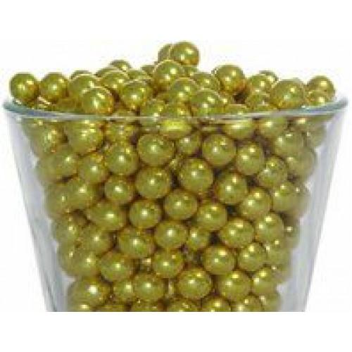 Декор Шарики золотые 7 мм. I.D.A.V., 100 гр.