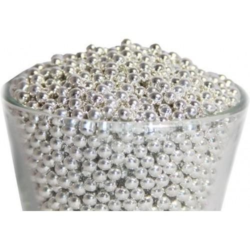 Декор Шарики серебряные 3 мм. I.D.A.V., 100 гр.