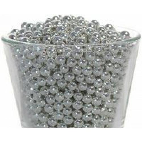 Декор Шарики серебряные 5 мм. I.D.A.V., 100 гр.