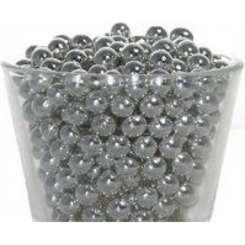 Декор Шарики серебряные 7 мм. I.D.A.V., 100 гр.