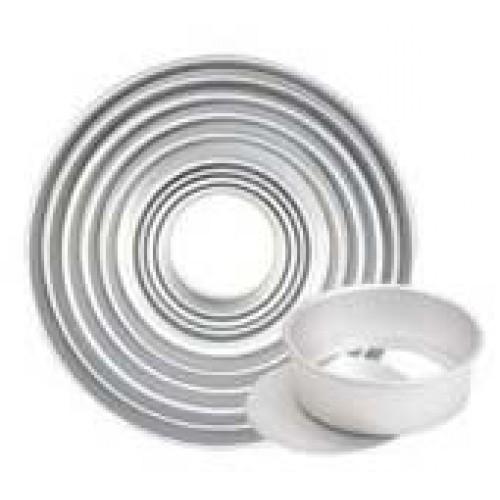 Форма алюминиевая анодированная со съемным дном для выпечки бисквита, 356х345х79 мм