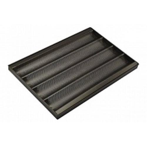 Противень багетный алюминиевый антипригарный 4 ряд