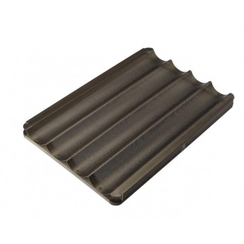 Противень багетный 4 ряд. алюминиевый антипригарный