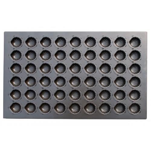 Противень для выпечки 24 кексов Мадлен 600х400х24 мм (ракушка)