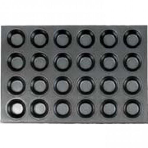 Противень для выпечки 24 кексов Полусфера 600х400х39 мм