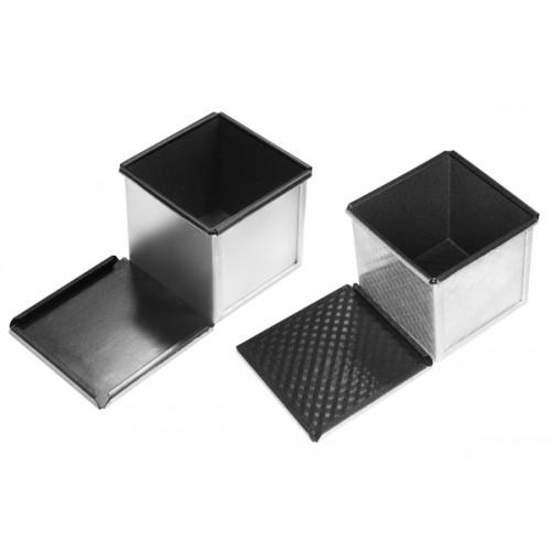 Форма антипригарная для выпечки квадратного хлеба 100х100х50 мм