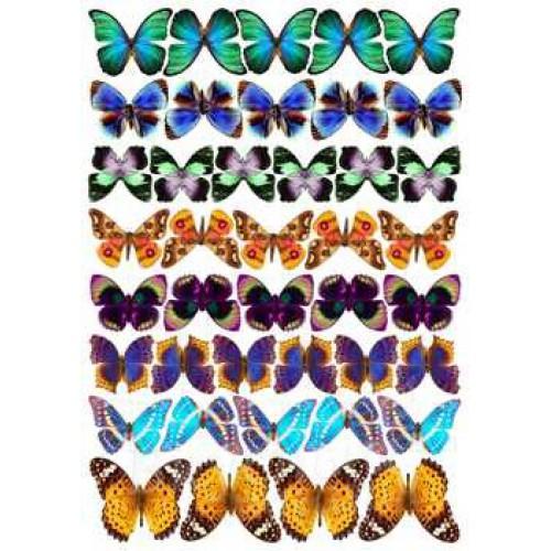 Вафельные бабочки большие, 39 шт.