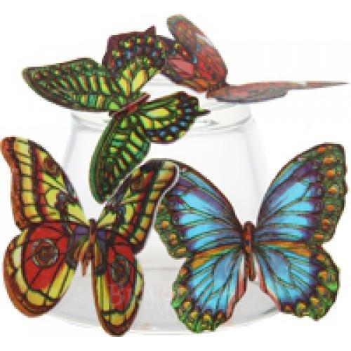 Вафельные бабочки микс, 10 шт.