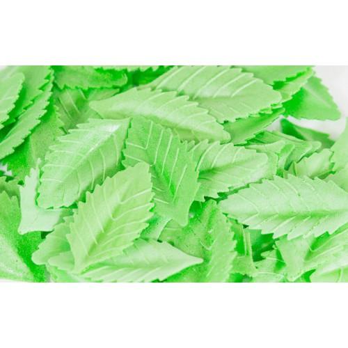 Лист розы вафельный 38 мм. Зеленый, 10 шт.