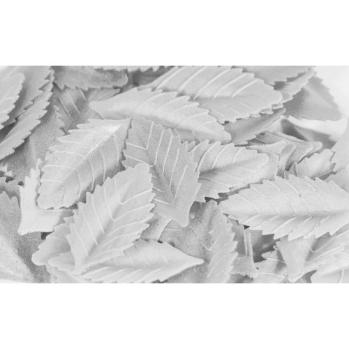 Лист розы вафельный 47 мм. Белый, 10 шт.